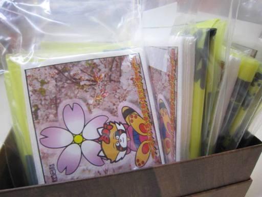 賃貸お部屋鍵お引渡し時に鯖江市指定ごみ袋サンプルをご一緒にお渡しして注意喚起しています