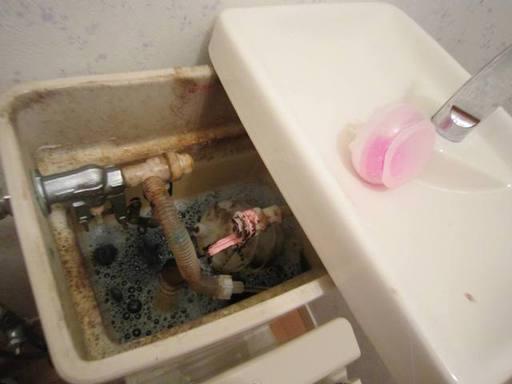 トイレの水が止まらなかった原因はロータンク内にありました